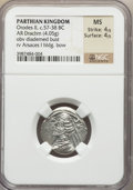 Ancients:Oriental, Ancients: PARTHIAN KINGDOM. Orodes II (57-38 BC). AR drachm (4.05 gm)....
