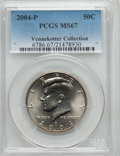 Kennedy Half Dollars, 2004-P 50C MS67 PCGS. Ex: Vennekotter Collection. PCGS Population(60/4). NGC Census: (88/5). Numismedia Wsl. Price for pr...