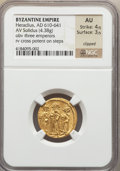 Ancients:Byzantine, Ancients: Heraclius (AD 610-641). AV solidus (4.38 gm)....