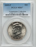 Kennedy Half Dollars, 2005-P 50C MS67 PCGS. Ex: Vennekotter Collection. PCGS Population (8/6). NGC Census: (45/34). Numismedia Wsl. Price for pr...
