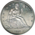 Gobrecht Dollars: , 1838 P$1 Name Omitted, Judd-84 Restrike, Pollock-93, R.5-6, PR64PCGS. Silver. Reeded Edge. Die Alignment III. This coin w...
