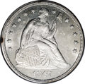 Seated Dollars: , 1847 $1 MS62 PCGS. Essentially untoned, save for a couple of smallspots on the obverse rim. ...