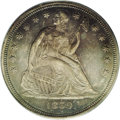 Seated Dollars: , 1859-S $1 AU53 PCGS. The Philadelphia Mint shipped 10 pairs ofSeated dollar dies west for th...
