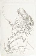 Original Comic Art:Covers, Billy Tucci - Shi Cover Illustration Original Art (2003).. ...