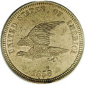 Patterns: , 1858 P1C Flying Eagle Cent, Judd-204, Pollock-248, R.5, PR64 PCGS.Ex: New Millennium Collection. Flying Eagle pattern with...