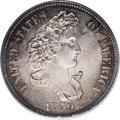 """Patterns: , 1859 P50C Half Dollar, Judd-241, Pollock-297, R.4, PR63 PCGS. The """"French Head"""" Liberty design for the half dollar, paired ..."""