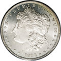 Morgan Dollars: , 1878 7/8TF $1 Strong MS65 Prooflike PCGS. VAM-40. Five tailfeathers emerge beneath the promi...
