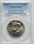 Kennedy Half Dollars, 2011-P 50C MS68 PCGS. Ex: Vennekotter Collection. PCGS Population(18/4). Numismedia Wsl. Price for pro...
