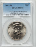 Kennedy Half Dollars, 2001-D 50C MS68 PCGS. Ex: Vennekotter Collection. PCGS Population(45/0). NGC Census: (5/0). Numismedia Wsl. Price for pro...