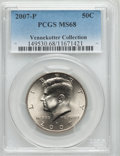 Kennedy Half Dollars, 2007-P 50C MS68 PCGS. Ex: Vennekotter Collection. PCGS Population(37/0). Numismedia Wsl. Price for pro...