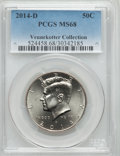 Kennedy Half Dollars, 2014-D 50C MS68 PCGS. Ex: Vennekotter Collection. PCGS Population(87/16). ...