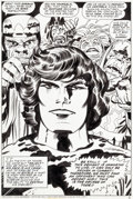 Original Comic Art:Splash Pages, Jack Kirby and Mike Royer The Eternals #8 Splash Page 6 Original Art (Marvel, 1977)....