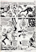 Original Comic Art:Panel Pages, Jack Kirby and Herb Trimpe Marvel Treasury SpecialFeaturing Captain America's Bicentennial Battles #1...