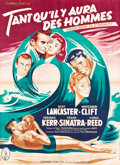"Movie Posters:Academy Award Winners, From Here to Eternity (Columbia, R-1950s). French Grande (45"" X 62"") Style A.. ..."