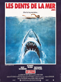 """Jaws (Universal, 1976). French Grande (46"""" X 61""""). Horror"""