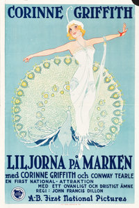 """Lilies of the Field (First National, 1925). Swedish One Sheet (23.5"""" X 35"""")"""