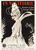 """Movie Posters:Drama, The White Moth (First National Pictures, 1924). Swedish One Sheet (28.5"""" X 39.5"""").. ..."""