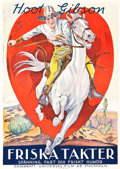 """Movie Posters:Western, Riding for Fame (Universal, 1928). Swedish One Sheet (28"""" X 39.5"""").. ..."""