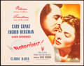"""Movie Posters:Hitchcock, Notorious (RKO, 1946). Title Lobby Card (11"""" X 14"""").. ..."""