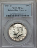 Kennedy Half Dollars: , 1964-D 50C Tripled Die Obverse MS64 PCGS. PCGS Population (12/4).Mintage: 156,205,440. ...