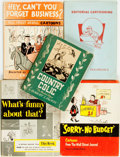Books:Art & Architecture, [Cartoons]. Group of Five Titles. Various publishers and dates.... (Total: 5 Items)