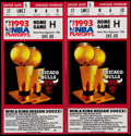 Basketball Collectibles:Others, 1993 Chicago Bulls NBA Playoffs Game H Tickets Lot of 2....