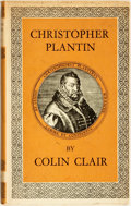 Books:Biography & Memoir, Colin Clair. Christopher Plantin. London: Cassell & Company, [1960]....