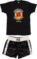 Boxing Collectibles:Memorabilia, 1986 Mike Tyson Training Worn Trunks and Shirt - Used In Preparation For Berbick Championship Bout!...