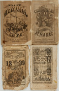 Books:Americana & American History, [Comic Almanacs]. Group of Four Nineteenth-Century Comic Almanacs.Various publishers, [1838 - 1872]. ...