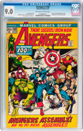 Bronze Age (1970-1979):Superhero, The Avengers #100 (Marvel, 1972) CGC VF/NM 9.0 Off-white to white pages....