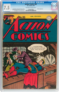 Action Comics #85 (DC, 1945) CGC VF- 7.5 Off-white to white pages