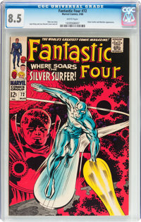 Fantastic Four #72 (Marvel, 1968) CGC VF+ 8.5 White pages
