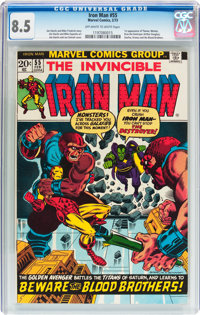 Iron Man #55 (Marvel, 1973) CGC VF+ 8.5 Off-white to white pages