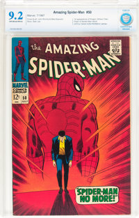 The Amazing Spider-Man #50 (Marvel, 1967) CBCS NM- 9.2 Off-white to white pages