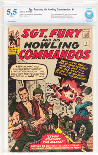 Sgt. Fury and His Howling Commandos #1 (Marvel, 1963) CBCS FN- 5.5 White pages