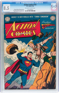 Action Comics #132 (DC, 1949) CGC VF+ 8.5 Off-white to white pages