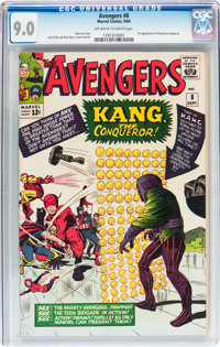 The Avengers #8 (Marvel, 1964) CGC VF/NM 9.0 Off-white to white pages