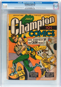 Champion Comics #9 (Harvey, 1940) CGC GD/VG 3.0 Cream to off-white pages