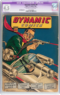 Dynamic Comics #9 (Chesler, 1944) CGC Apparent VG+ 4.5 Slight (C-1) Off-white to white pages
