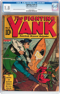 Fighting Yank #3 (Nedor Publications, 1943) CGC GD- 1.8 Cream to off-white pages