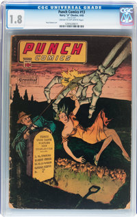 Punch Comics #13 (Chesler, 1945) CGC GD- 1.8 Cream to off-white pages