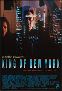 """King of New York (Seven Arts, 1990). One Sheet (26.75"""" X 39.75""""). Crime"""