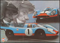"Movie Posters:Sports, Gulf-Porsche 917 (1970s). German A1 (23.5"" X 33.25"") DS. Sports.. ..."