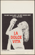 """Movie Posters:Foreign, La Dolce Vita (Cineriz, 1959). Window Card (14"""" X 22""""). Foreign.. ..."""