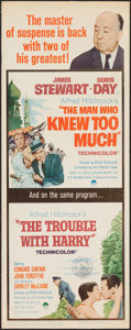 """Movie Posters:Hitchcock, The Trouble with Harry/ The Man Who Knew Too Much Combo (Paramount,R-1963). Insert (14"""" X 36""""). Hitchcock.. ..."""