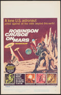 """Movie Posters:Science Fiction, Robinson Crusoe on Mars (Paramount, 1964). Window Card (14"""" X 22""""). Science Fiction.. ..."""