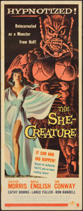 "Movie Posters:Science Fiction, The She-Creature (American International, 1956). Insert (14"" X36""). Science Fiction.. ..."