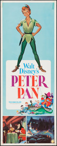 "Movie Posters:Animation, Peter Pan (Buena Vista, R-1976). Insert (14"" X 36""). Animation....."