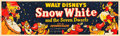 "Movie Posters:Animation, Snow White and the Seven Dwarfs (Buena Vista, R-1951). Banner (24""X 82"").. ..."