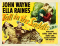 "Movie Posters:Western, Tall in the Saddle (RKO, 1944). Half Sheet (22"" X 28"") Style A.. ..."